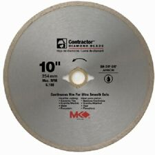 """MK Diamond, 167031, 10"""", Contractor Continuous Rim Wet Cutting Tile Saw Blade"""
