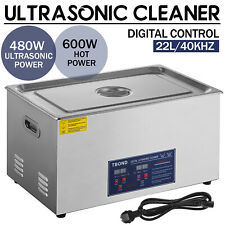 Commercial 22L Ultrasonic Cleaner Cleaning Machine Industry Heated w/ Timer New