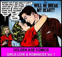DVD Golden Age Comic Books LOVE ROMANCE INTIMACY {1} Girls Teenage Stories Women