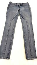 VOLCOM WOMENS MED DARK WASH SEAMED SKINNY JEANS SIZE 5