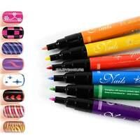 12 colors New Nail Art Pen Painting Design Tool Drawing for UV Gel Polish EN24H