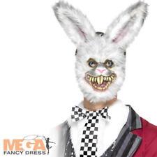 White Rabbit Mask Adults Fancy Dress Halloween Fairytale Gory Costume Accessory