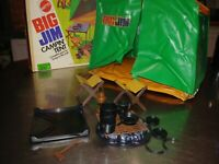 VINTAGE MATTEL 1972 BIG JIM CAMPING SUPPLIES AND TENT LOT