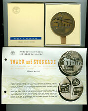 1963 BZ Tower & Stockade 25 Anniv Israel Official State Medal w/Box/Paper Flyer