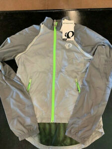 Pearl Izumi Elite Barrier Convertable Jacket- Grey/Green- Small