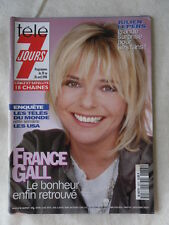 TELE 7 JOURS N° 1873 FRANCE GALL DICK RIVERS JOHNNY DEPP VERONIQUE JANNOT
