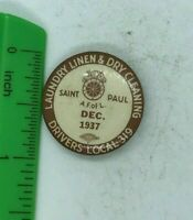 Vintage Labor Union Button Laundry Linen and Dry Cleaners Local 319 1937