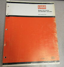 Case 770 Tractor S/N 8675001 Parts Catalog Manual A1170 1972
