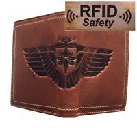 Herrengeldbörse Portemonnaie RFID & NFC-blockierendes Innenfutter Büffelleder