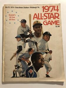 1974 ALL STAR GAME Program ROBERTO CLEMENTE Hank AARON Pittsburgh PA UNSCORED