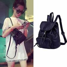 Women's Faux Leather Mini Small Drawstring Backpack Rucksack Cute Bag Purse b099