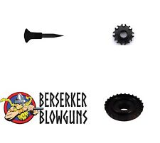 25 - .40 cal Blowgun Spike Darts with 8 Pt Quiver & Dart Guard from Berserker Bl
