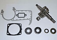 Crankshaft with Crankshaft Bearings Oil Seals Gasket Set fits Stihl Ms341 Ms361