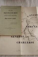 CANAUX CHARLEROI BRUXELLES WILLEBROECK 1898 MEMOIRE DESCRIPTIF