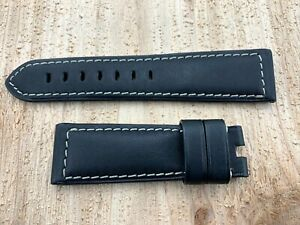 New Genuine Graham Chronofighter Oversize 24mm X 20mm Black Leather Strap OEM