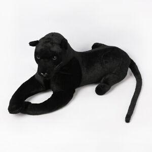 New Realistic Black Panther Pet Plush Kids Toy Children Stuffed Animal Doll Toy