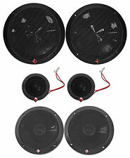 "Rockford Fosgate P165-SI 240w 6.5"" Car Component Speakers+6.5"" Coaxials-Euro Fit"
