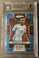 2018 Panini Prizm World Cup Raheem Sterling Light Blue Lazer #/125 BGS 9 Mint!