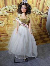 Vintage Walk Lively Miss American Doll w/Gown, Crown & Satin Sash!!!!