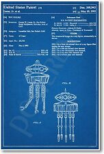 Star Wars Pro Bot Patent - NEW Invention Patent Movie Art POSTER