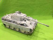 Tamiya 1/35 Segunda Guerra Mundial alemán pantera cubierto de nieve precioso artículo. Pintado y construido.