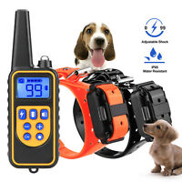 875 Yard Waterproof Dog Training Collars Electric Remote Shock Collar For 2 Dogs