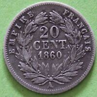 FRANCE 20 CENTIMES NAPOLEON III 1860 A