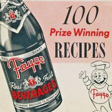 1953 FAYGO Feigenson 100 Recipes Prize Winning Booklet Advertising Vintage
