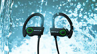 Rockville Wireless Bluetooth Ear Bud Earphones for iPhone/Samsung/Android