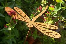 Rusty Dragonfly on Stake - Locally created and hand-made