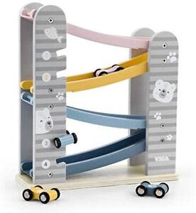 The Original Toy Company PolarB Solid Hardwood - Car Slider Playset - 425533
