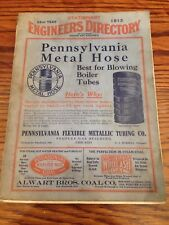 1913 Stationary Engineers Directory For IL, WI, & IN. Asbestos Litigation