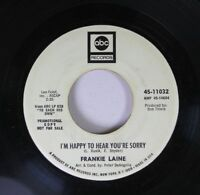 Pop Promo 45 Frankie Laine I'm Happy to Hear You're Sorry / To Each His Own on A