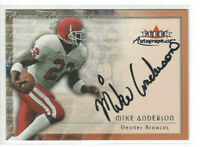 2000 Fleer Tradition Autographics Mike Anderson Rookie Auto Denver Broncos