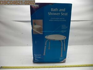 QTY = 4: Carex Health Brands Adjustable Bath & Shower Seat, B65000, 023601026507