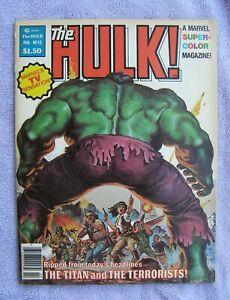 Marvel Hulk Magazine #13 1979 Key Issue Bill Sienkiewicz 1st Moon Knight NR