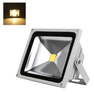 20W LED Flutlicht Fluter Außenstrahler Scheinwerfer IP65 Garten Warmweiß 3000K