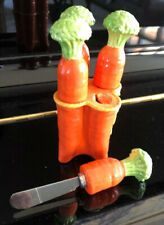 4 Carrot butter / food spreaders knives Easter Spring Farmhouse