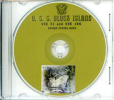 USS Block Island CVE 21 & CVE 106 CRUISE BOOK WWII CD