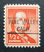 Sc # 1030 ~ 1/2 cent Liberty Issue, Precancel, PINE VALLEY CALIF. MNH