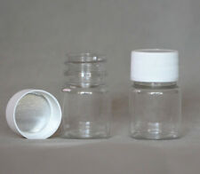 10 x 30ml Clear bead storage bottle small plastic container jar screw cap