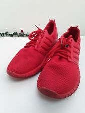 Boys Red Trainers Fashion Boost Lace Ups Size Euro 38 Uk 5