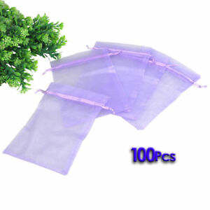 Organza Bags  for Wedding Jewelry Party Festival Gift Candy Sachet 100pcs