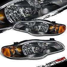 Fit 2000 2001 2002 2003 2004 2005 Chevrolet Monte Carlo Black Headlights Pair