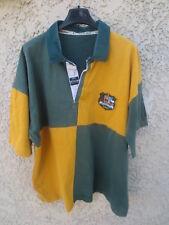 Maillot rugby AUSTRALIE AUSTRALIA WALLABIES shirt coton Line-Out damier ancien L