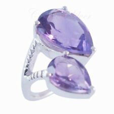 925 solid sterling silver Real AMETHYST GEMSTONE CLASSIC Ring Size 8 US C-1256