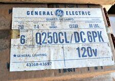 LOT of 6 250 Watt Halogen Clear DC Bayonet Base Bulb 120 Volt Q250CL/DC USA ESS