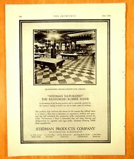 1924 BILLIARD ROOM CHICAGO ATHLETIC CLUB American Seating Co. Print Ads Man Cave