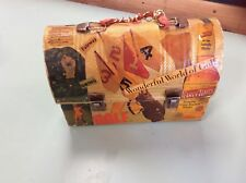 Vintage Lunch Box Decoupage Hipster Mod Purse Hand Bag