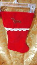 Dachshund Dog Old Christmas Vintage Stocking